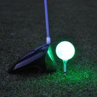 Гольф-шары 1 шт. Синтетический резиновый светодиодный светодиодный шар часто яркий подходит для ночного использования многоцветный дополнительный оптом