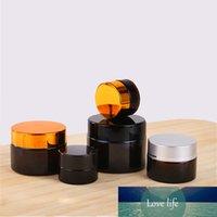 1 adet 5g / 10g / 15g / 20g / 30g / 50g Cam Amber Kahverengi Kozmetik Yüz Kremi Şişeleri Dudak Balsamı Örnek Konteynerler Kavanoz Pot Makyaj Mağaza Flakon