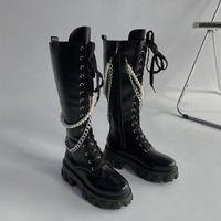 Boots Flat Platform Women's Rubber Shoes Rain Clogs Med Basic PU Hoof Heels