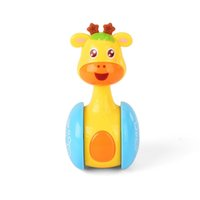 Baby ciervo Rajos Roly-Poly Tumbler Toys Doll ABS Sweet Bell Music Learning Learning Educación Juguetes para niños