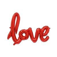 Amore forma lettera foglio palloncino anniversario Puntelli da sposa giorno Valentine's Party Photo Booth Booth Decorazione Champagne Cu O5m8