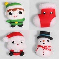 TPR Weihnachten Dekompression Santa Claus Weiche Squishy Spielzeug Sinnes Heilung Finger Squeeze Squishies Kinder Stress Reliever Party Decor Zurück zu Schulgeschenk G86LFD5