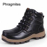 Phragmites Adam Açık Kayma Yürüyüş Ayakkabı Kış Sıcak Kar Botları Takozlar Serin Zapatos De Mujer Rahat Deri Çizmeler Botas Sevimli Ayakkabı Z65P #