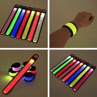 Party Decoration 1800pcs Nylon LED Sports Slap Wrist Strap Bands Wristband Light Flash Bracelet Glowing Armband Flare Concert