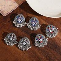 Vintage Pearl Beads Tassel Wedding Dangle Earring Indian Jhumka Antique Boho Gold Water Drop Earrings Brincos Jewelry