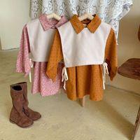 Girl's Dresses Baby Girls Clothing Set Classic Ploka Dot Dress With Vest 2pcs Kids Spring Autumn Elegant Suits Child Vestido Christmas Cloth