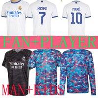 Gerçek Madrid Futbol Formaları 21 22 Benzema Tehlike Öncesi Sergio Ramos ISCO 2021 2022 Camiseta Kaleci Courtois Maç Eğitim Gömlek Kazak Çocuk Seti Oyuncu Sürümü