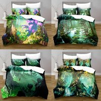 Bedding Sets Fantasy Forest Duvet Set With Pillowcase Quilt Cover EU Australia U.S. Bedroom Big Bed Queen