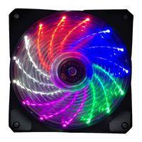 Fans & Coolings CPU Cooler Fan 15 LEDs PC Computer Case Heatsink Mini Portable Ultra Mute Cooling Radiator For Desktop Office Home