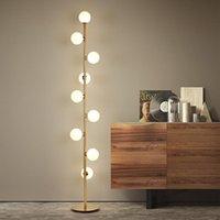 Stehleuchten Moderne Wohnzimmer LED Tischlampe, Nachttischdekoration, Kristallkugelblech, Nordische Schlafzimmerlampe.