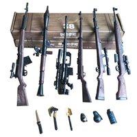 6pcs set 1: 6 World Famous Gunman Mini Tiny Model Set Rocket Launcher Rifle Finished 4D Model Toy Gun For Collection