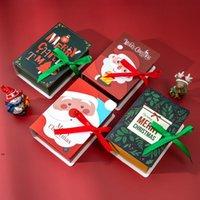 마법의 책 선물 랩 크리스마스 사탕 초콜릿 종이 상자 파티 아이 축제 선물 상자 쿠키 상자 포장 나무 펜던트 Dwe8673