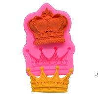 Newroyal Crown Silicone Fandont Mold Silica Gel Moldes Coroas Moldes De Chocolate Molde Doces De Casamento Bolo De Decoração Ferramentas EWA5498