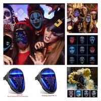 블루투스 코스프레 변경 얼굴 마스크 프로그래머블 DIY 사진 풀 컬러 애니메이션 빛나는 LED 마스크 디스플레이 보드 파티 크리스마스 바 T10i71