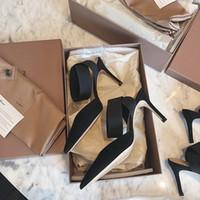 Гию Новый Весна Летняя Мода Сексуальный Большой Лук Заостренные Носки Высокие каблуки Сандалии Обувь Женщина Дамы Свадебные Насосы Насосы Обувь 210301
