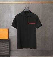 2020 hommes polos classique mode populaire t-shirt t-shirts rouges rouges en caoutchouc lettres lettrage broderie confortable matériau de haute qualité Tees