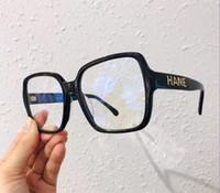Projetado All-Match Celebs Mulheres Big-Square Óculos Planície Prancha Quadro 56-17-140 para Anti-Blue Ray Prescrição Miopia Eyewear Fullset Case