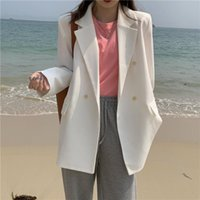 Women's Suits & Blazers 2021 Autumn Winter Jackets Fashionable Vintage Oversized Elegant Wild Office Lady Tops