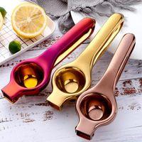 عملي دليل الليمون عصارة الفولاذ المقاوم للصدأ اليد الصحافة البرتقال الفاكهة عصارة المنزلية مصغرة الليمون كليب أدوات المطبخ FWD5027