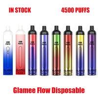 Original Glamee Flow Disposable E-cigarettes Pod Device Kit 4500 Puffs 2200 Battery 16ml Prefilled Cartridges Vape Stick Pen For Bang XXL Plus Authentic