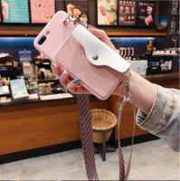 الفاخرة لطيف محفظة بطاقة حامل قوس الحبل سيليكون حالة الهاتف لآيفون 12 11 × xr xs ماكس 6 6 ثانية 7 8 زائد ل iphone11 الغطاء الخلفي