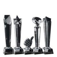 الكائنات الزخرفية التماثيل كريستال الكأس مخصص كوب كجائزة جائزة الرياضة الفيلم إسقاط المخصصة المنزلية المنزلية