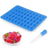 50 Cavity Bears Silicone Mold Chocolate Candy Ice Jelly Mold DIY Children Cake Moulds Decorating Tools 2043 V2