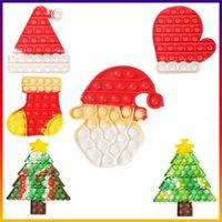 Brinquedos infantis de Natal POP Brinquedos Fidget Sensory Push Bubble Board Jogo Ansiedade Reliever Kids Adultos Autismo Necessidades Especiais Venda CC1