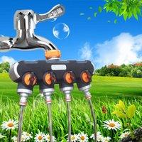Watering-Ausrüstungen Multifunktionale Gartenarbeit Eins in vier Freilaufventil Vierweg-Schlauch-Wasserverteiler-Controller-Drop
