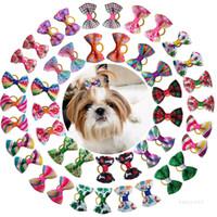PET HABITACION Plaid Bow Series Classic Pet Cabello Accesorios para el cabello PET Head Flower Dog Hacheing ZC098