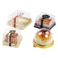 50Sets Clear Transparent Cadeau Coffret de lune / Cupcake Boîte d'emballage Box de mariage de Noël Gâteau / Boîte à bonbons Porte-conteneur