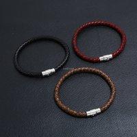 Mode Männer Hand Weave Braid Armband Einfache Schnalle Armbänder Armband Armreif Manschette Frauen Schmuck Wille und Sandy