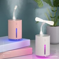 Humidifiers 3 In 1 Air Humidifier 320ML USB Mini Ultrasonic Essential Aroma Diffuser Car Home Portable Colorful Lamp Purifier Mist Maker