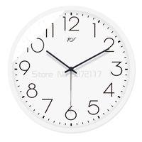 Wall Clocks Simple Clock Silent White Watch Radio Wave Decoration Quartz
