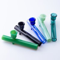 CSYC Y026 Steam Roller spoon Pipe for Smoking oil burner labs Glass Tobacco Pipes hand dry herb Tube