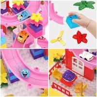 Бургкидз мой первый замок здание совместим с Duplood Marble Run Kids Blocks цифры автомобили треки игрушки для девочек мальчики 0215