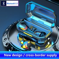 M15 TWS Headphones Bluetooth Wireless Sports Earphones with LED Flashlight Charging Case Phone Power Bank Stereo Gaming Headsets for Xiaomi iPhone Huawei