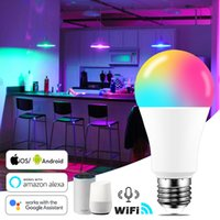 15W WiFi Smart Light Bulb B22 E27 LED RGB Lamp Work with Alexa Google Home 85-265V RGB+White+Warm white Dimmable Timer Function RGB Bulb
