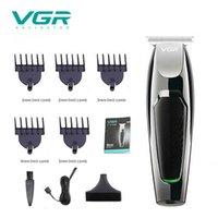 VGR V030 Profesyonel Su Geçirmez Saç Giyotin Ekran erkek Saç Kesme Bakım Bakımı Düşük Gürültü Clipper Titanyum Seramik Bıçak Yetişkin 210302