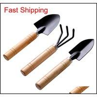 3 teile / satz neue kreative gartenarbeit werkzeuge drei stück mini garten werkzeuge kleiner shovel rake spaten polot p qylozq sport2010