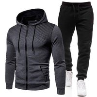 Men's Tracksuits Mens Sweat Suits Clothes For Men Clothing Set Outfit Cropped Sweatshirt Fashion 2021