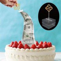 Scatola di denaro torta divertente che tira la creazione della torta di muffa scatola dei soldi dei soldi dei soldi che tira la torta che fa la muffa del cibo di contatto sicuro 280 r2
