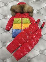 Childrens recém-nascido bebê para baixo jaqueta grosso bebê morno menino meninas roupas de inverno jaquetas com capuz aquecido outerwear casacos para roupas de meninos roupas