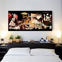 Spagna Francia Picasso Guernica Vintage Classico Germania Figura Canvas Stampa Art Stampa Pittura Pianta Parete Immagine per la decorazione della casa Y200102