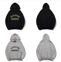 Quente nevoeiro Essentials Designer Beisebol Medo de deus Hoodies Moletons Mulheres Homens Hoodie Streetwear Pulôver Sueter Material de Algodão Mens Mens Mens Loose