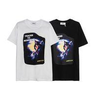 Japanische Flut Hinterhaltswolf Totem Druck T-shirt 100% reine Baumwolltops für Männer und Frauen Paar Kurzarm T-Shirt Designer T-Shirts