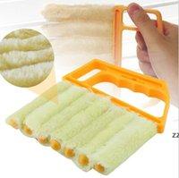 Microfibra útil Limpieza de la ventana Cepillo Acondicionador de aire Limpiador de plumero con tela de limpieza de cuchillas vencores lavables HWD10043