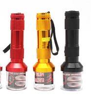 Torche électrique de la lampe de poche de lampe de la lampe de poche broyeur broyeur de manivelle feuille de tabac de fumée de fumée de fumée de piment de poivre d'épice Herb Muller Machine moulin 133 v2