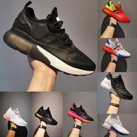 2021 Zapatillas de correr originales ZX 2K Boost Blanco Palomitas de palomitas Slipper Sandalia Diseñador de mujeres Zapatillas de deporte Zapatillas de plataforma Hombres Baloncesto Tamaño al aire libre 36-45