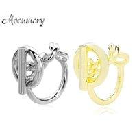 Moonmory 925 Стерлинговые серебряные серебряные цепные кольцо с кольцом обруча для женщин Французская популярная зажечь кольцо стерлинговые серебряные украшения 210312
